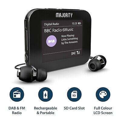 MP3 Player Portable Radio Handheld Pocket Personal DAB+ Digital FM Rechargeable