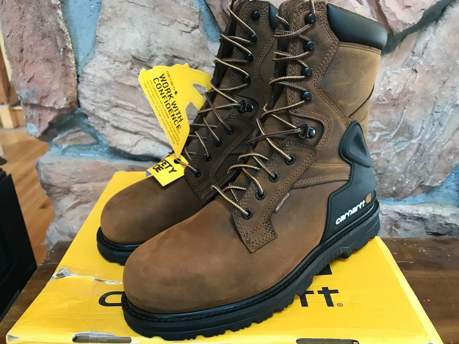 Carhartt Men's 8 Wide CMW8200 8  Steel Toe Work Boot Bison Brown