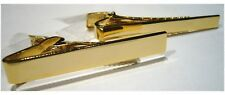 Plain Tie Clip- Tie Bar - Gold Tone Plated - 2 Widths Available