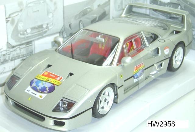 Ferrari F40 Argent 60TH ANNIVERSAIRE FONDATION spéciale par Hot Wheels 1 18 vente