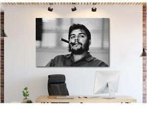 Che-Guevara-Smoking-Canvas-Wall-Art-Print