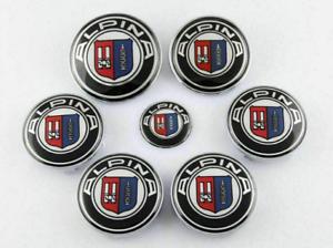7-stuecke-Fuer-Alpina-Embleme-Radkappe-Abzeichen-Aufkleber-set-2x74mm-4x68mm-45mm
