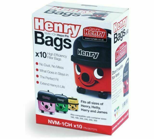 4 x 10 pack Numatic Hepa Flo NVM-1CH Henry Vacuum Filter Bags
