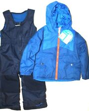 Columbia Boys Toddler Double Flake Snowsuit Snow Bibs Set Super Blue Size 3T New