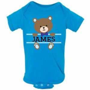 b46b1aa4a61 Baby Bear Face Boy Name Infant Bodysuit or T-shirt ~ Personalized