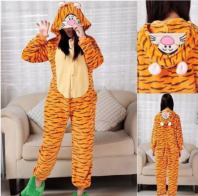 Pigiama kigurumi Tiger Poly Fleece costume party animali tigre carnevale feste