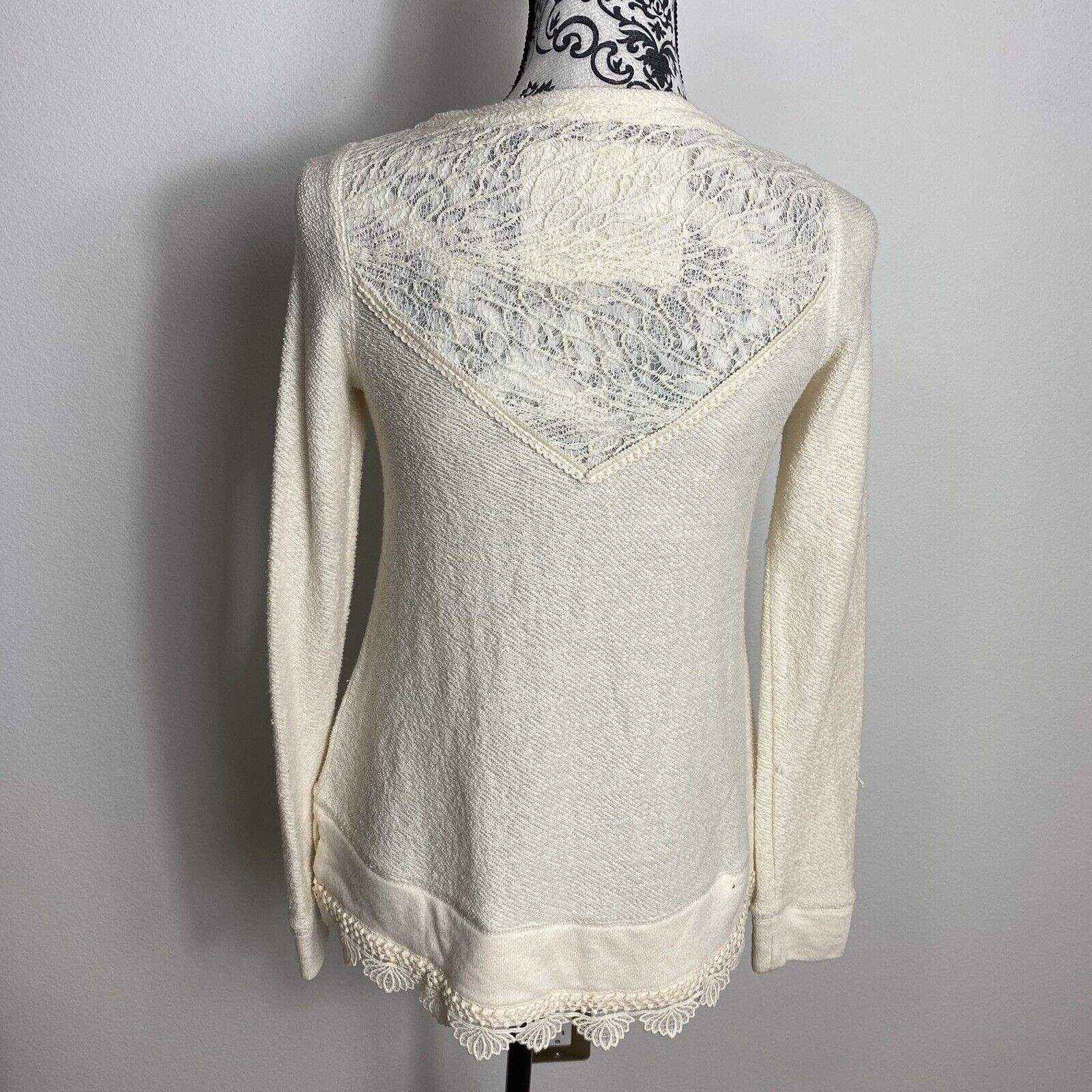 Angel Of The North Fairycore Lace Detail Sweater … - image 6