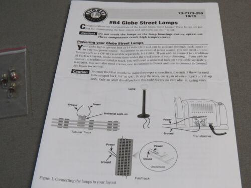 BLACK train lights post war style poles 6-12926 NEW LIONEL #64 STREET LAMPS 3