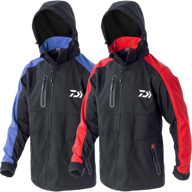 Daiwa NEW Softshell Fishing Jacket - Blau OR rot - All Größes - NEW FOR 2018
