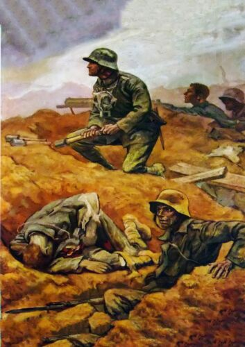 WW1 German Army Infantry Attack Poster