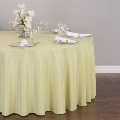 LinenTablecloth 132 in Wedding Event Round Polyester Tablecloths 33 Colors