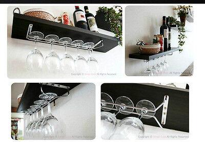"Wine Glass Rack Kitchen Holder Hanger 11.8"" 15.7"" DIY Dining Bar Tool Shelf"