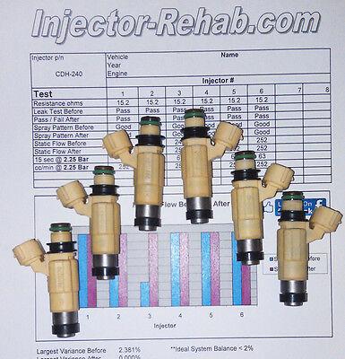 Yamaha F200 - F225 Fuel Injector Set 6 Injectors 69J-13761-00-00 Year 2002-2012