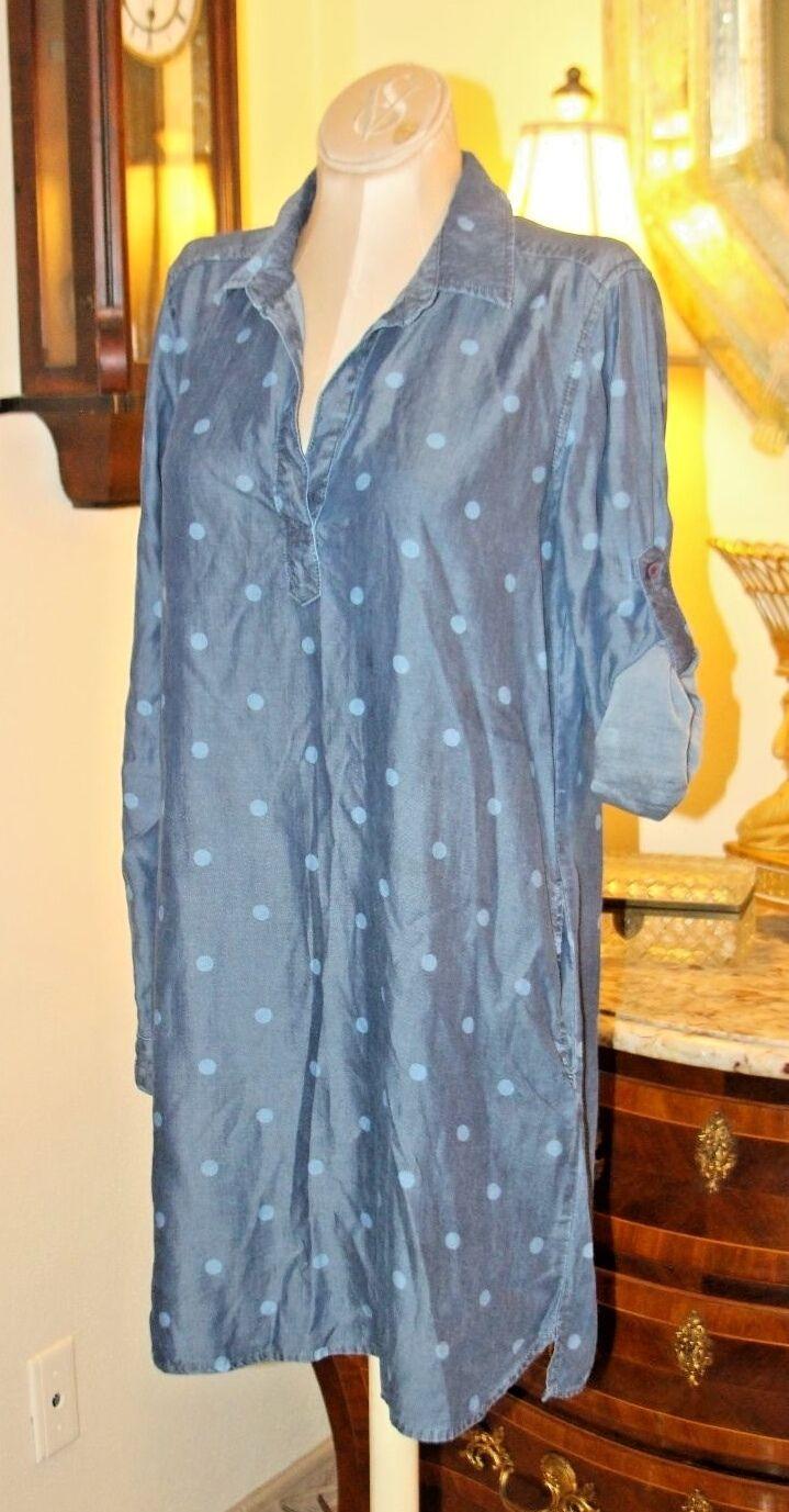 CLOTH & STONE POLKA DOT TENCEL DRESS   USA