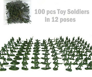 100-pcs-Military-Plastic-Toy-Soldiers-Army-Men-Green-1-72-Figures-12-Poses