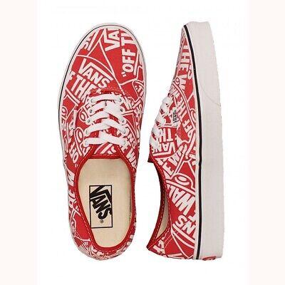 VANS Mens Authentic OTW Repeat Red True White Size 12 192363253060 | eBay