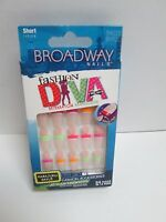 Broadway Fashion Diva Nails Mismatch Manicure Short Length 54033 Bhfd01 Love