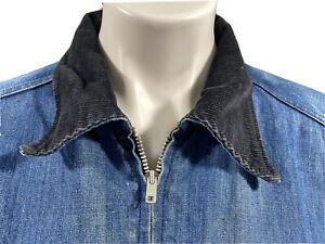 Vintage-Wrangler-Men-Size-42-Western-Blue-Insulated-Blanket-Lined-Denim-Jacket