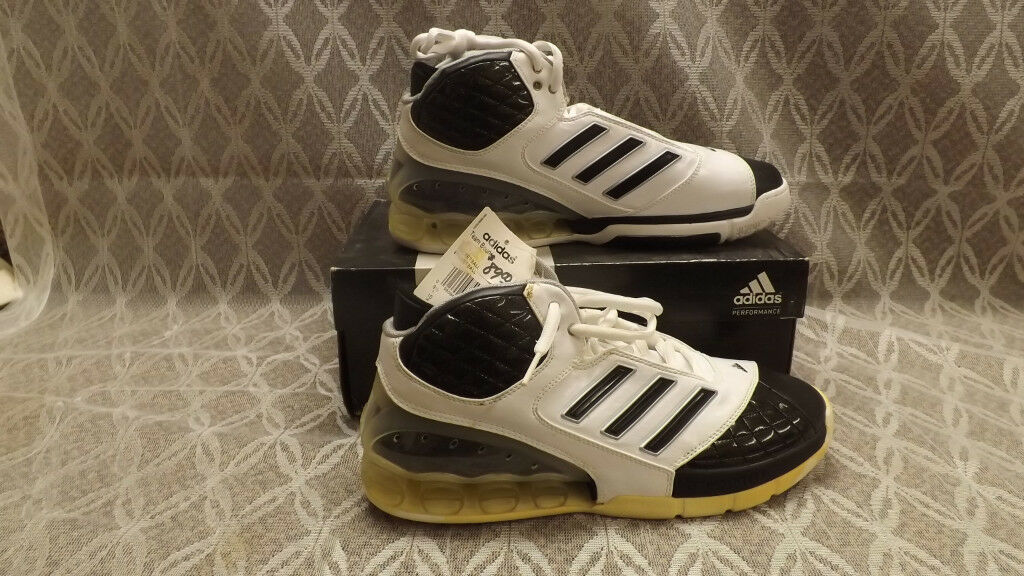 NIB  Adidas TEAM BOUNCE 43433 White Leather Basketball Shoes Price reduction The latest discount shoes for men and women