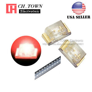 100PCS-0402-1005-SMD-SMT-LED-Red-Light-Emitting-Diodes-Ultra-Bright-USA