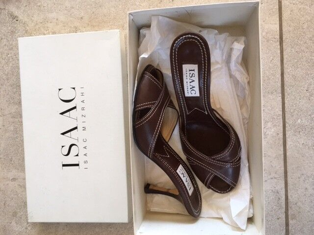 Men's/Women's Isaac Mizrahi Brown Leather Sandal Fine workmanship product Used in durability General product workmanship 6e0d25