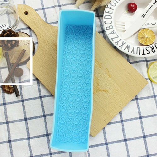 Rose Toast Silicone Soap Mold Loaf Cake Baking Bread Tools Rectangle Mould DIY