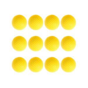 12pcs-Golf-PU-Ball-Interior-Beginner-Training-Soft-Ball-Yellow