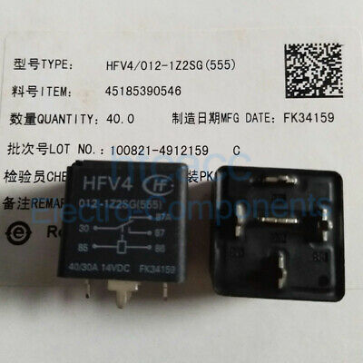 Hongfa HFKW//012-1ZW 012-1ZW Mini Automotive Relay 12VDC 35A x 2pcs