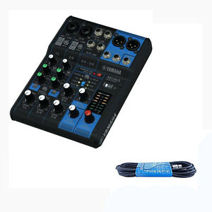 yamaha mg06x 6 channel stereo mixer with effects six input mixer free xlr cable ebay. Black Bedroom Furniture Sets. Home Design Ideas