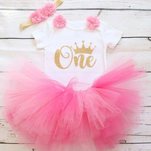 Petite Princesse Floral licorne robe pour bébé fille 1 an anniversaire robe gâteau