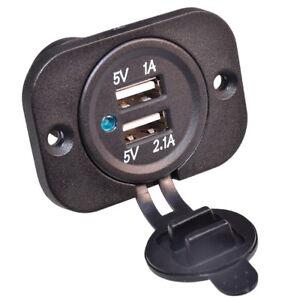 Auto-KFZ-Einbau-Steckdose-Zigarettenanzunder-Adapter-2x-USB-Ladegerat-12V-24V