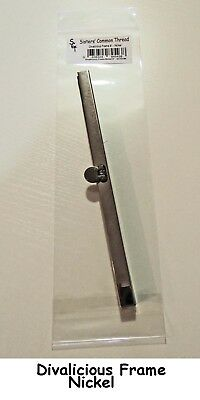 "8/"" Nickel finish purse frame with screws by Sisters/' Common Thread NEW"