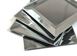 Image Is Loading 3x3 Wide Beveled Gl Mirror Tile Decorative Accent