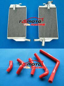 Red Y Hose for Honda CR250 CR250R 02 03 04 2002 2003 2004 Aluminum radiator