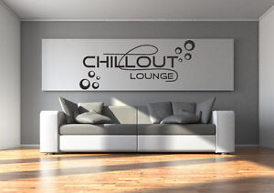 wandtattoo aufkleber chillout chill out lounge kreise wohnzimmer relax tx093. Black Bedroom Furniture Sets. Home Design Ideas