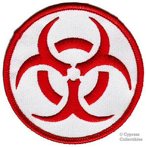 Biohazard symbol embroidered iron on patch red logo new toxic image is loading biohazard symbol embroidered iron on patch red logo altavistaventures Images