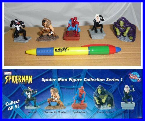 SET 5 Mini Figure Collezione SPIDERMAN UOMO RAGNO Rare TOMY Venom Goblin etc.