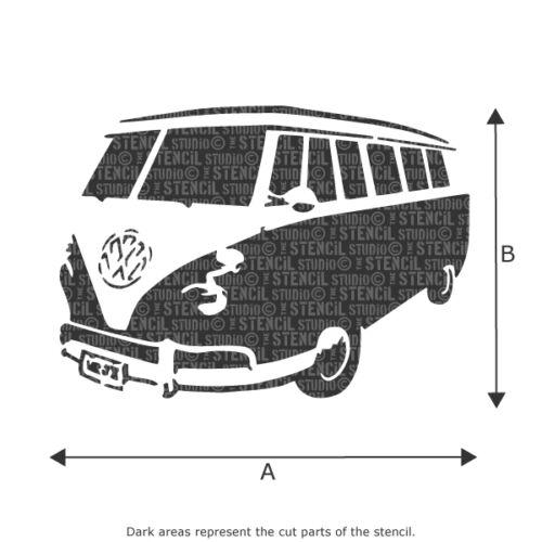VW Camper Van Schablone Dekoration Wohndeko Wiederverwendbar Das Studio 10116