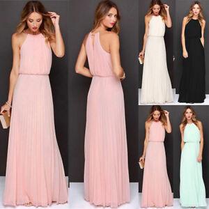 Das Bild wird geladen Damen-Chiffon-Kleid-Abendkleid-Maxikleid-Lang -Ballkleid-Partykleid- c3e45fc1b7