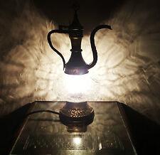 Turkish Moroccan Teapot Lamp Light Tiffany Glass Desk Table UK SELLER