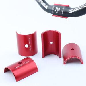 Alloy Bike Handle Bar Shim Bicycle Handlebar Adapter Bushing Converting Red