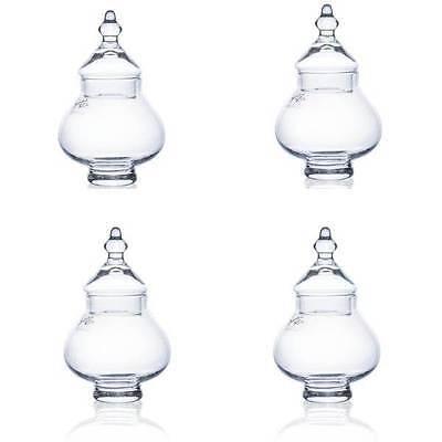 4er SET Bonbonieren Dekogefäße TIN mit Deckel Glas H. 17,5cm Ø 11cm  Sandra Rich