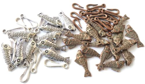 Fancy Fish hook clasps Sets jewelry Supplies-CHOOSE COLOR!!