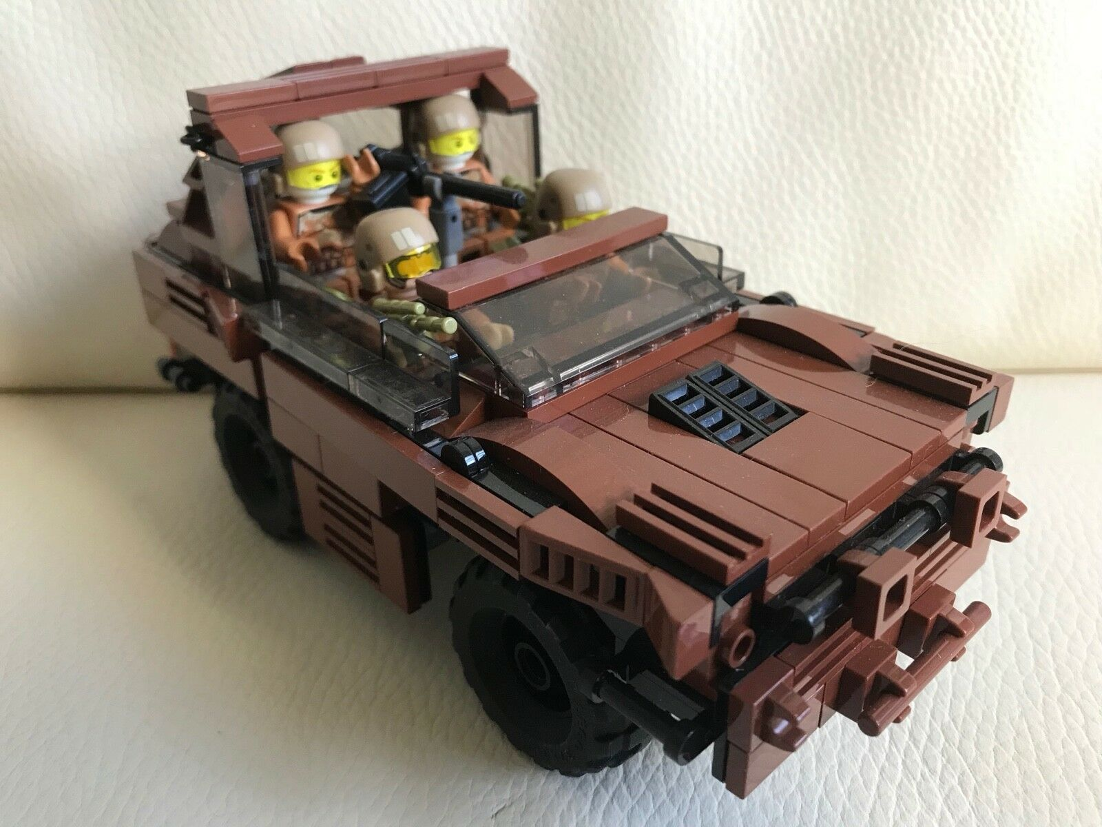 Original Lego pièces neuves - 4 soldats  Armourouge Car-MY DESIGN-Custom arme