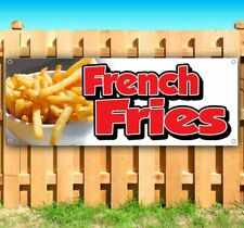 New Listingfrench Fries Advertising Vinyl Banner Flag Sign Many Sizes Food