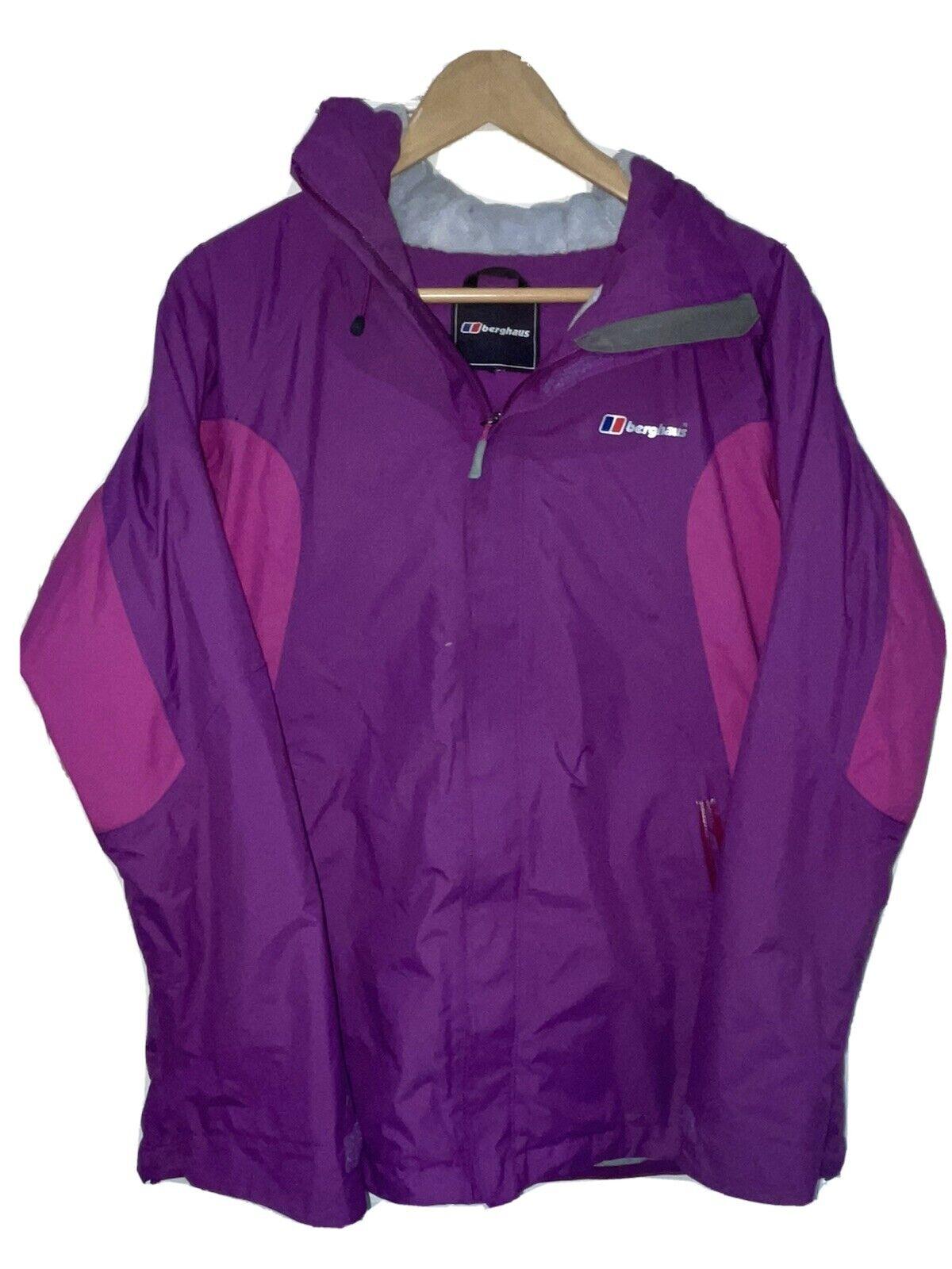 Womens Purple Berghaus AQ2 Waterproof Hooded Jacket - Size 12 (M)