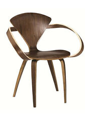 Cherner Style Walnut Wood Arm Chair Mid Century Dining Accent Armchair