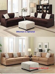 2 pc Sectional Sofa & Loveseat in 2 color Microsuede living room Furniture set
