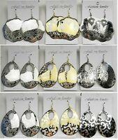 Wholesale Lot 9 Pairs Fashion Jewelry Dangle Silver/gold Plated Earrings Q5