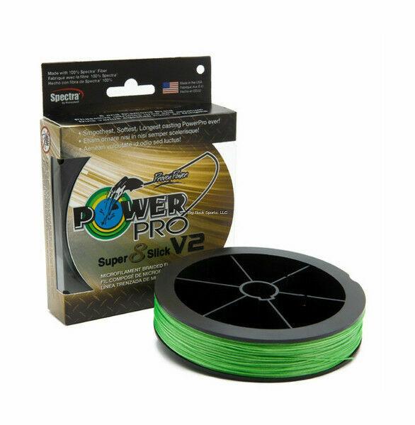 Power Pro Super Slick 8 Braid Fishing Line 30lb Test 300 Yds Aqua Green 30#
